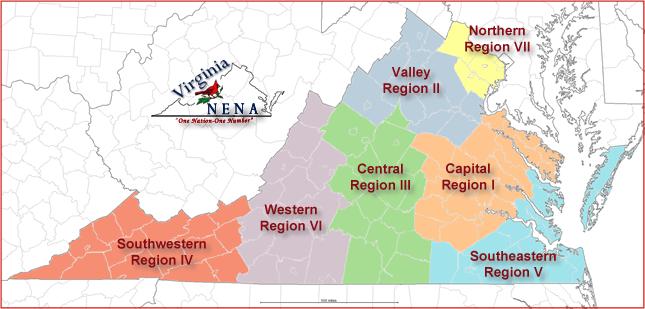 Va Chapter of NENA Regions